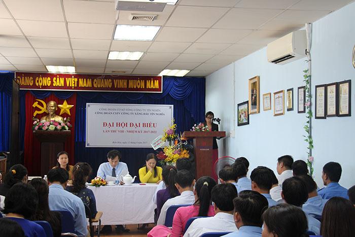 Đại hội đại biểu Công đoàn CSTV Công ty xăng dầu Tín Nghĩa lần VIII